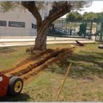 excavación de zanjas para jardines