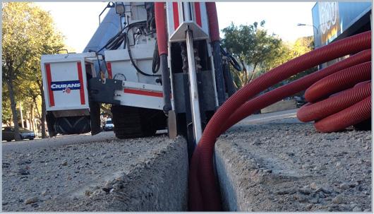 excavación de zanjas para gas natural