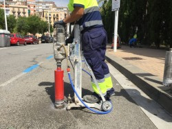 instalacion de sensores de aparcamiento