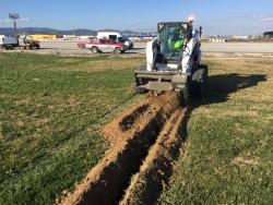 Trabajos de minizanjado para el aeropuerto de Barcelona