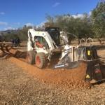 Minizanja para la instalación de riego automático